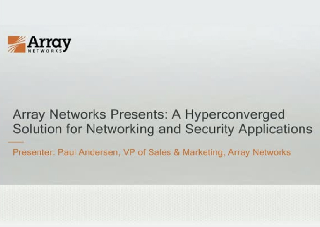 A Hyperconverged Solution for Networking and Security Applications