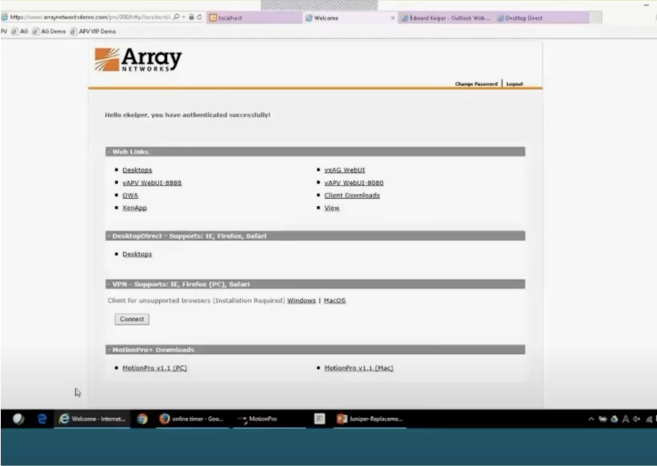Array Networks SSL VPN Demo