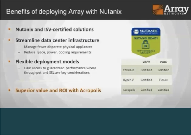 Successfully Deploying Array App Delivery on Nutanix
