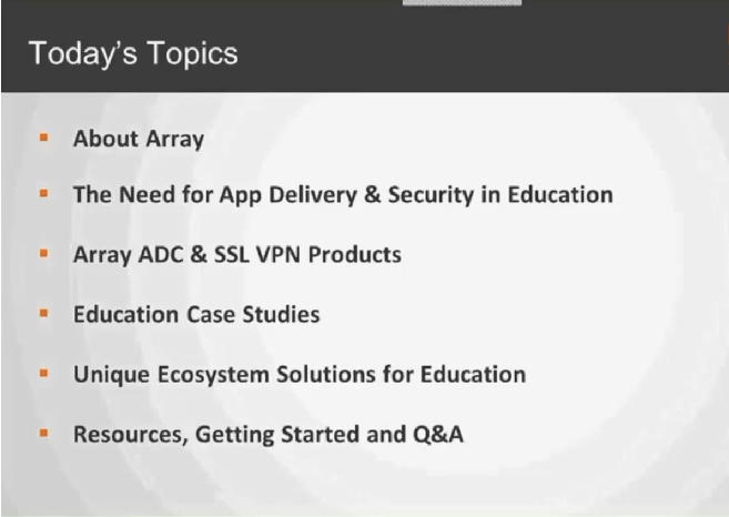 Array App Delivery for Educational Institutions